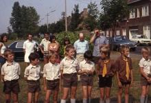 Vertrek klein kamp chiro Melle, 1972