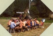 Aspiranten chiro Melle op voorwacht, Guirsch, 1976