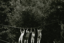 Apenbrug op chirokamp, Olloy-sur-Viroin, 1972