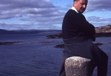 Chiro Melle Geertrui. Proost Gerard Linthout in Ierland, 1972.