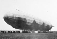 LZ 35 net voor het opstijgen, 1915