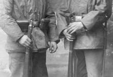 Soldaten van het Duitse bataljon dat op Gontrode gestationeerd was, 1915
