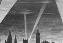 Zeppelindreiging boven Londen, 1915