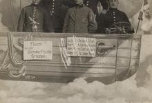 Zeppelin en soldaten, 1913
