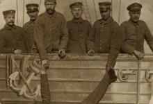 Zeppelin en soldaten, 1914