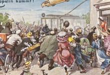 Duits enthousiasme door de komst van de zeppelin, 1910