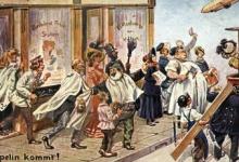 Feest voor de komst van de zeppelin, 1909