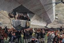 Landing zeppelin tijdens demonstratie voor verzamelde Duitse legerleiding, 1916