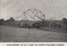 Neergestorte zeppelin LIV, 1908