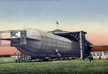 Zeppelin in volle vlucht, 1910