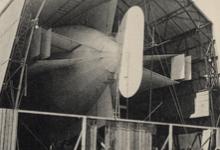 Zeppelin loods op de Bodensee, 1909