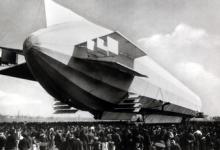 Het landen van zeppelin LZ3 nabij Konstanz, 1909