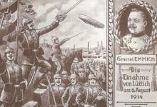 Inname van Luik, 1914