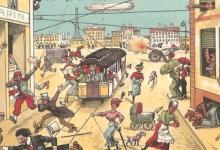 De schrik der Parijzenaars voor de zeppelins, 1914