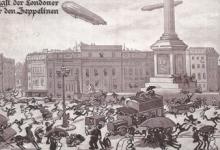 De schrik van de Londenaars voor de zeppelins, 1915