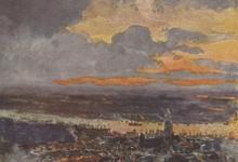 Een zeppelin bombardement op Antwerpen, 1914
