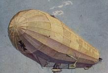 Luchtgevecht tussen zeppelin en vliegtuigen, 1916