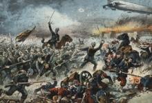 Met de zeppelin koen ten aanval, 1914