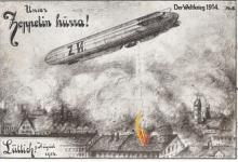 Onze Zeppelin Hoera. Bombardement Luik, 1914