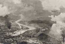 Strijdtafereel Lüttich met zeppelin