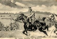 Zeppelins bij Maubeuge, 1915