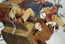 Reis met de luchtballon, 1909