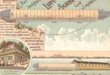 Zeldzame en oudste zeppelin, 1900.