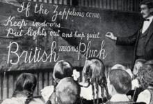 Waarschuwing voor zeppelins in Britse school.
