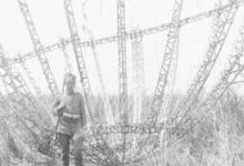 Wrakstuk van een neergestorte zeppelin, 1915