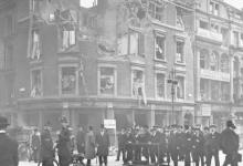 Gebombardeerd bankgebouw