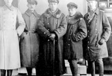 Ernst Brandenburg en zijn officieren, Gontrode, 1917