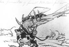 Tekening van Adolf Genth, 1917