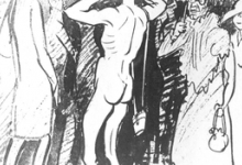 Cartoon van Adolf Genth
