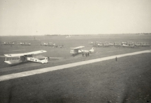 Bijtanken in Nieuwmunster, 1917