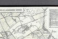 Grondplan van het vliegveld van Gontrode, 1917