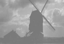 De molen van Lemberge voor zijn sloop, 1917
