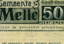 Oorlogsgeld van de gemeente Melle, 1914-1918