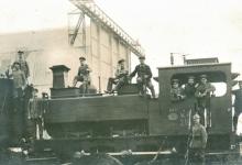 De spoorlijn tussen Gontrode en Landskouter doorgetrokken tot aan de hal van het vliegveld van Gontrode, 1915
