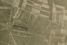 Luchtfoto van het vliegveld van Gontrode, 1917