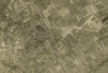 Het vliegveld van Gontrode vanuit de lucht, 1917.