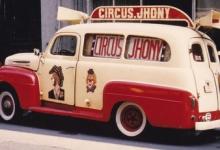 Promomobiel van Circus Jhony op Houtem Jaarmarkt, ca. 1960