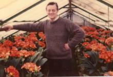 André Pieters tussen de clivia's, Melle, 1975-1979