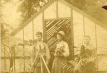 Begindagen van bloemisterij Piens, Destelbergen, 1903-1914