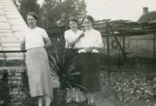Familie Puimège op de bloemisterij, Zaffelare, 1930-1947