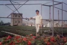 Eric De Ketele op bloemisterij De Ketele, Lochristi, 1967