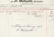 Factuur bloemisterij Wulteputte, Lochristi, 1912