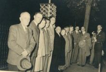 Bloemist Wulteputte op het Begoniafestival, Lochristi, 1954