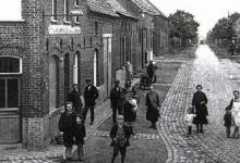 Hoek Wetterse steenweg met Hauwerzele, Sint-Lievens-Houtem,1922