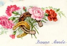 Nieuwjaarskaart Bonne Année, jaren '60