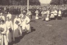 Hoogmis, Livinusfeesten, Sint- Lievens- Houtem, 1957